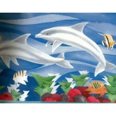 Sea World Borders White Dolphines Wallpaper Border York Wallcoverings
