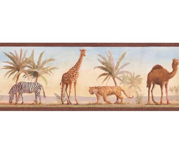 Camel Zebra Wallpaper Border