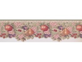 Prepasted Wallpaper Borders - Green Pink Floral Wall Paper Border