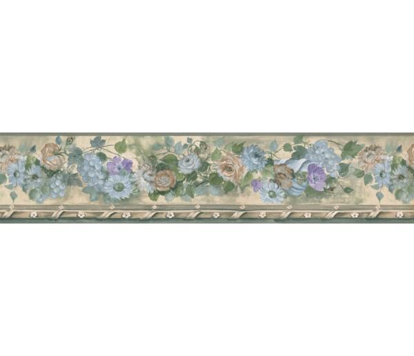 Floral Borders Blue Daisy Flower Wallpaper Border York Wallcoverings