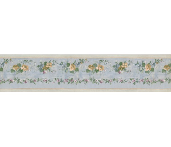 Clearance: Running Yellow Roses Wallpaper Border