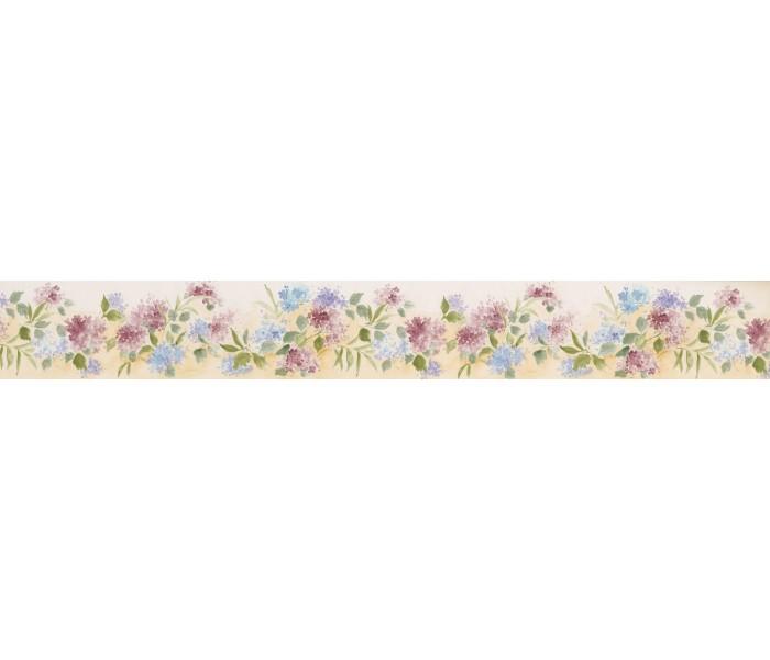 Garden Wallpaper Borders: White Background Tiny Blue Red Flowers Wallpaper Border