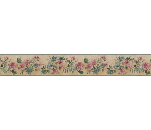 Garden Borders Pink Blue Tiny Flowers Wallpaper Border York Wallcoverings