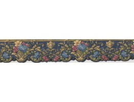 Prepasted Wallpaper Borders - Lavendar Pink Plant Wall Paper Border
