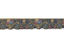 Lavendar Pink Plant Wallpaper Border