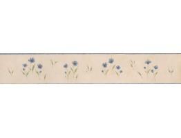 White Background Blue Petal Rose Art Wallpaper Border