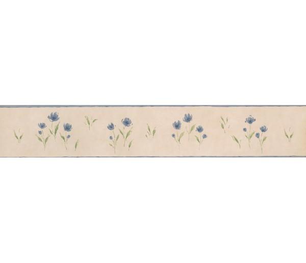 Garden Wallpaper Borders: White Background Blue Petal Rose Art Wallpaper Border