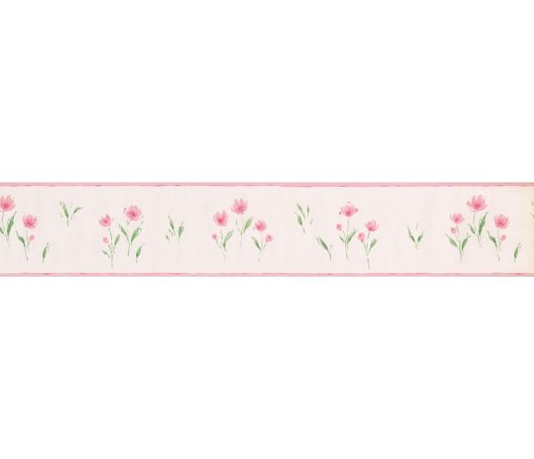 Prepasted Wallpaper Borders - White Background Red Petal Rose Art Wall Paper Border