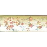 Garden Wallpaper Borders: Brown Background White Tiny Flowers Wallpaper Border