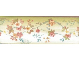 Prepasted Wallpaper Borders - Brown Background White Tiny Flowers Wall Paper Border