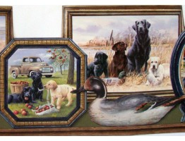 Hunting Dogs Wallpaper Border