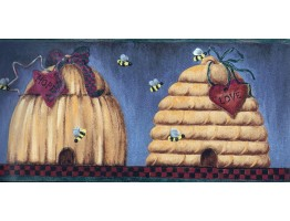 Bee skep faith hope love heart Wallpaper Border
