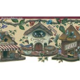 Bird Houses 005124 RC Birds and Gargen Wallpaper Border York Wallcoverings