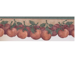 Prepasted Wallpaper Borders - Red Tomatoes Wall Paper Border