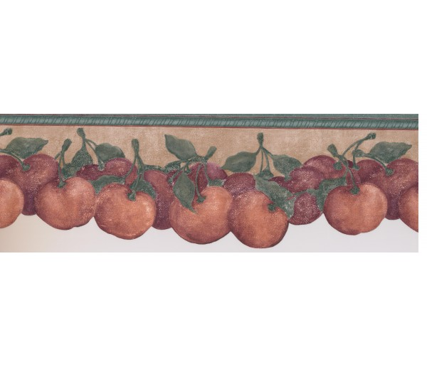 Clearance: Red Tomatoes Wallpaper Border