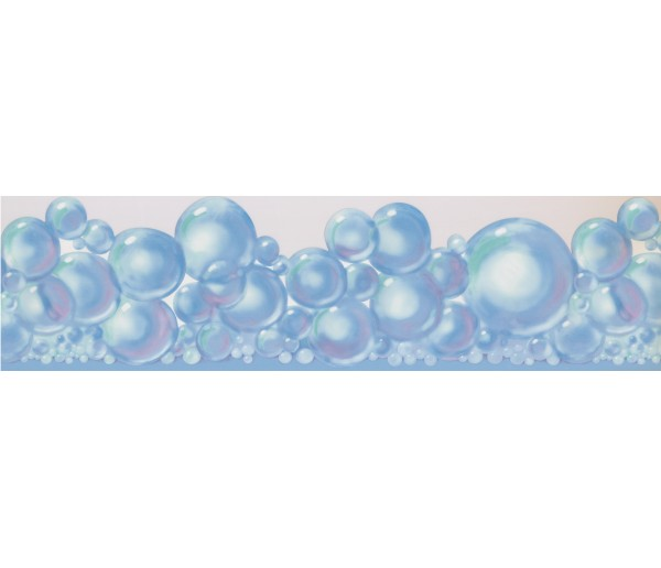Laundry Wallpaper Borders: Bubbles Wallpaper Border RU8119