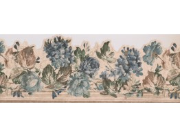 9 in x 15 ft Prepasted Wallpaper Borders - 28104 SCO Floral Wall Paper Border