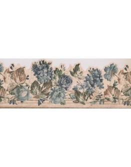 Prepasted Wallpaper Borders - 28104 SCO Floral Wall Paper Border