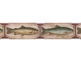 Trout Fish Wallpaper Border