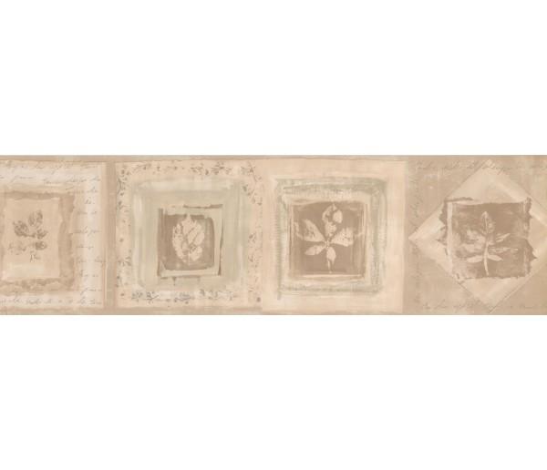 Vintage Borders Cream White Beige Leaf Displays Wallpaper Border