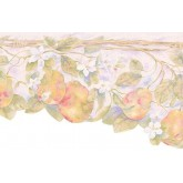 Clearance: Pink Scalloped Pears Wallpaper Border