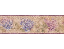 7 in x 15 ft Prepasted Wallpaper Borders - Floral Wall Paper Border SI37133