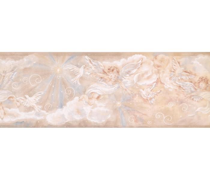 Faith and Angels Wallpaper Borders: Star White Angel Wallpaper Border