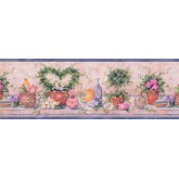 Bathroom Floral Bathroom Wallpaper Border 37221 SI York Wallcoverings