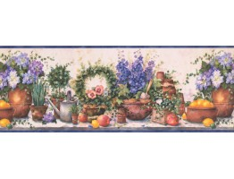Blue Gardening SI37231B Wallpaper Border