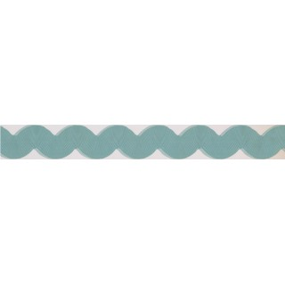3 in x 15 ft Prepasted Wallpaper Borders - Blue Running Shape Wall Paper Border
