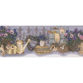 Garden Wallpaper Borders: Lavender Flower Garden Set Wallpaper Border