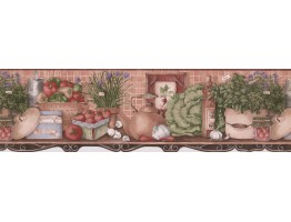 7 in x 15 ft Prepasted Wallpaper Borders - Fresh Vegetable Recipes Wall Paper Border