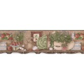 Kitchen Wallpaper Borders: Green Leafy Vegetable Recipes Wallpaper Border