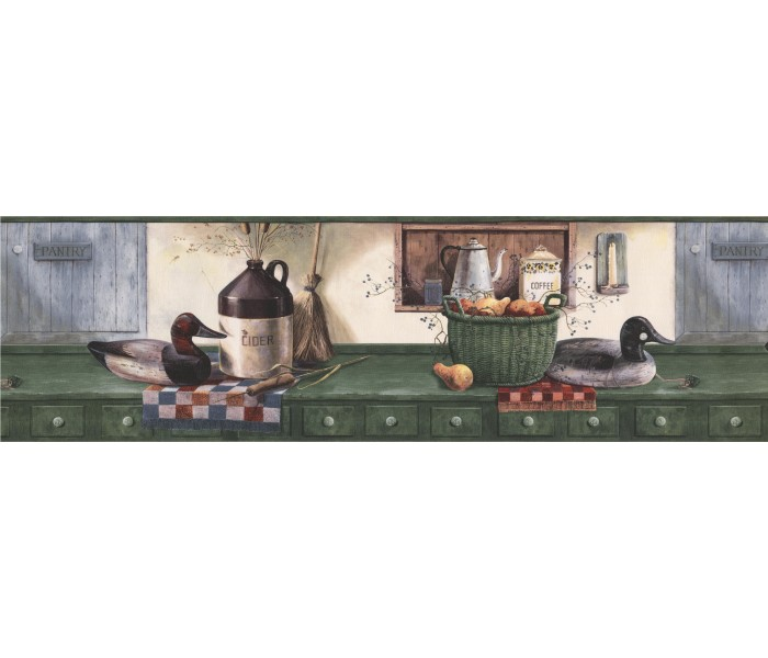 Clearance: Kitchen Wallpaper Border SP76450