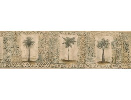Prepasted Wallpaper Borders - Tropical Palm Tree Wall Paper Border