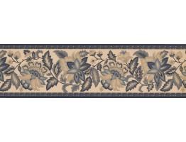 026105SR Floral Wallpaper Border