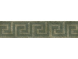Dark Green Maze Wallpaper Border