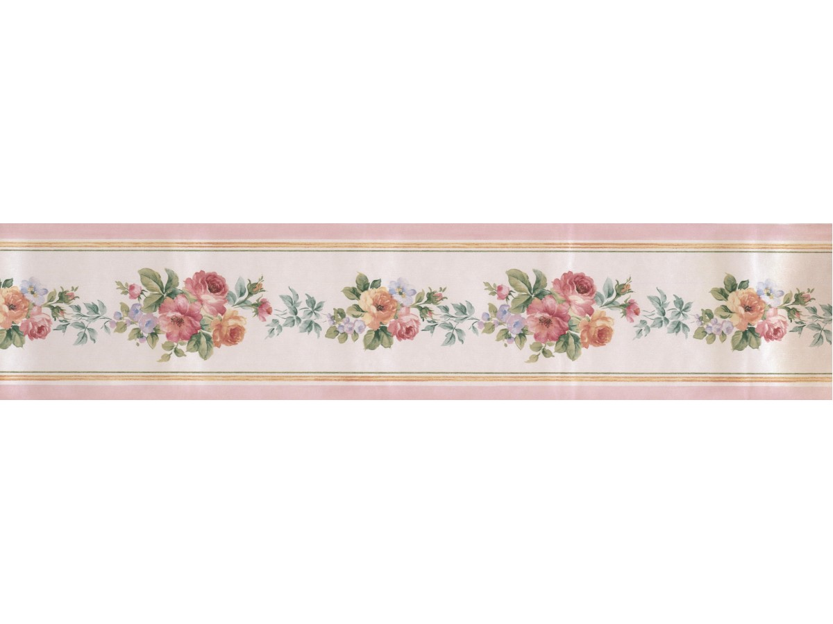 Garden Wallpaper Borders Satin Rose Border