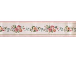 Prepasted Wallpaper Borders - Satin Rose Wall Paper Border