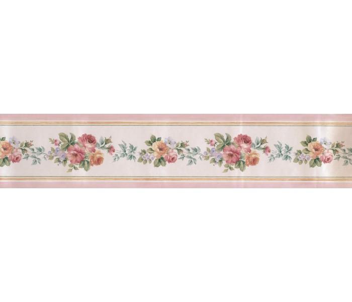Garden Wallpaper Borders: Satin Rose Wallpaper Border