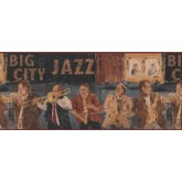 Clearance: Brown Musicians Wallpaper Border