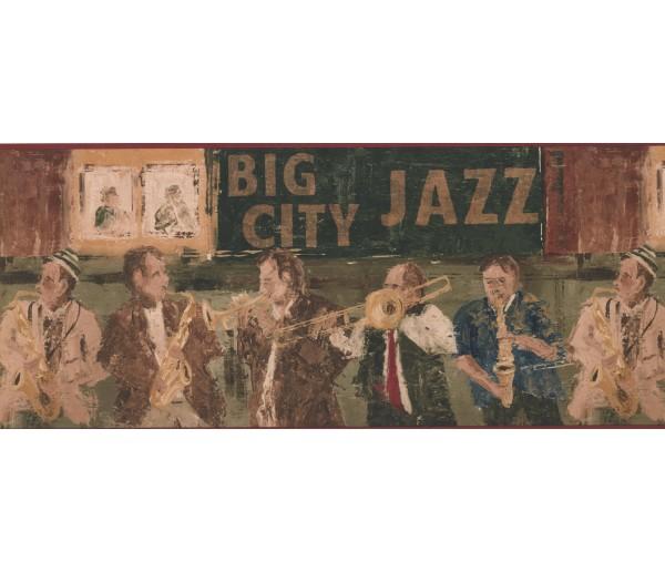 City Jazz Musicians Wallpaper Border York Wallcoverings
