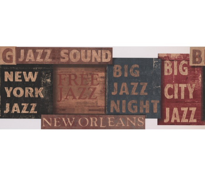 Novelty Wallpaper Borders: Orleans Jazz Night Wallpaper Border