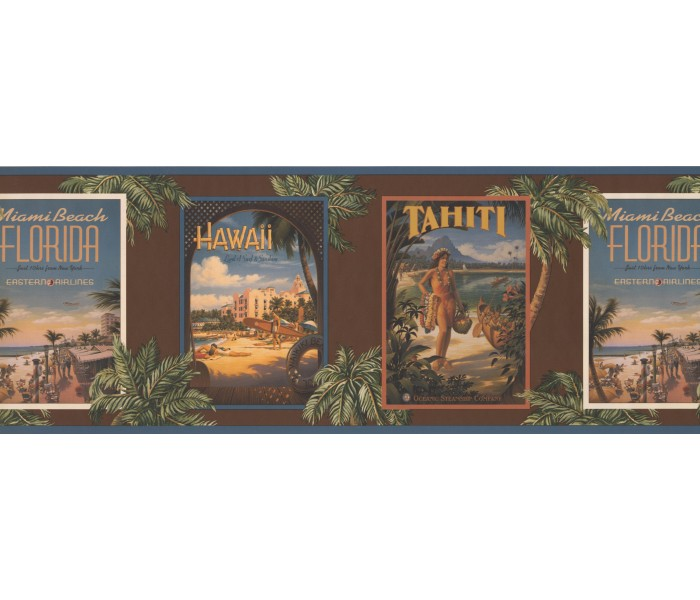 Tropical Wallpaper Borders: Hawaii Secenary Wallpaper Border