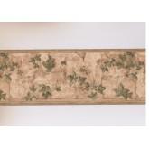 Garden Wallpaper Borders: Brown Garden Wall Leaves Wallpaper Border