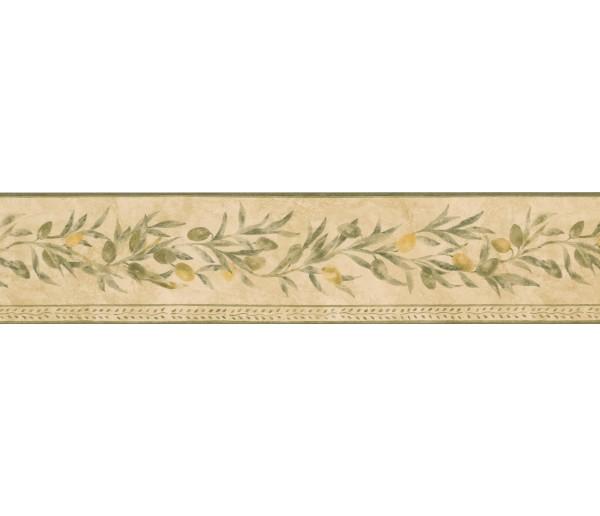 Garden Wallpaper Borders: Yellow Seeded White Pattern Wallpaper Border