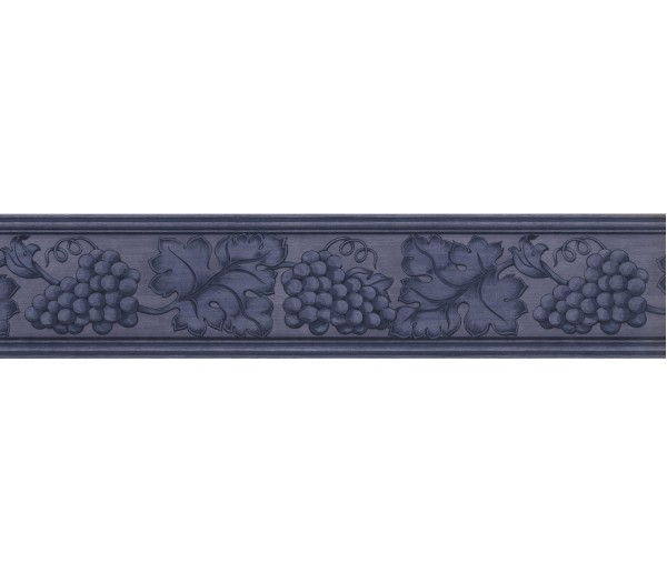 Clearance: Blue Grape Plant Wallpaper Border