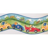 Cars Borders Blue Racing Cars Wallpaper Border York Wallcoverings