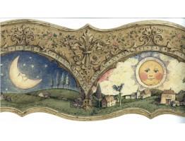 Sun Moon Stars Wallpaper Border VCD0522