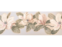 Prepasted Wallpaper Borders - Floral Wall Paper Border VG8548